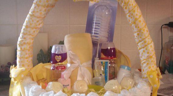 Duckie Diaper Basket Baby Shower Centerpiece by teresaphillips