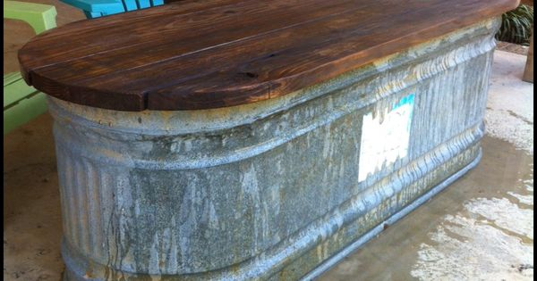 Water Trough Turned Into A Table Back Porch Pinterest