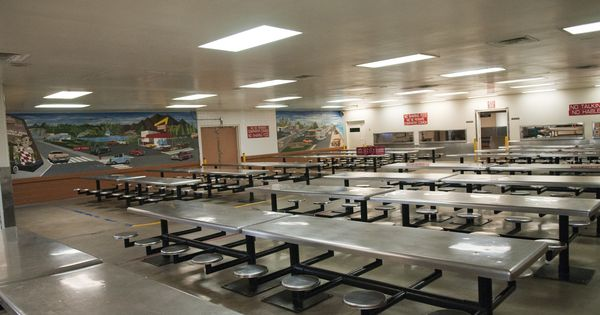 Inmate Dining Room At Pdc South Facility La County Jails