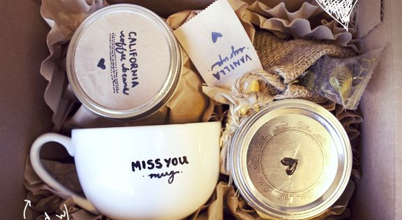 """i miss you a latte"" DIY gift idea. so cute!"