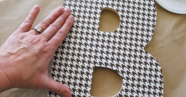covering wooden letters with scrapbook paper Michaels/hometalk pinterest  great craft tips on covering wooden letters with paper,  how to use modge podge to adhere scrapbook paper to wooden letters from.