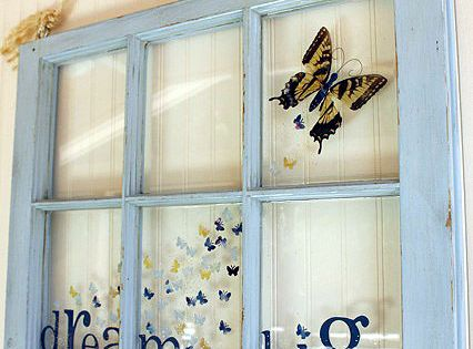 An cool idea for old window frames