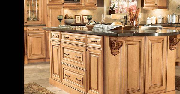 On pinterest plate racks modern cabinets and traditional kitchens - I Think So American Woodmark Savannah Maple Coffee Glaze