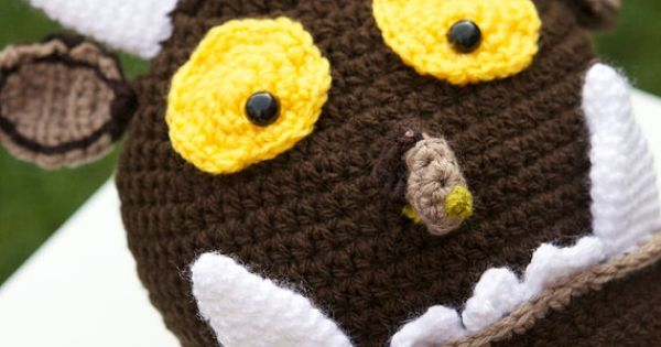Crocheted Gruffalo Style Hat for Child by ItsyBitsyHooks ...