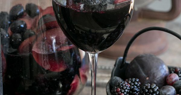 Black Sangria Recipe - Sugar and Charm - sweet recipes - entertaining