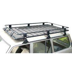 Arb Steel Roof Rack Basket With Mesh Floor 73 X 49 For Jeep Cherokee Xj Roof Rack Car Roof Racks Roof Rack Basket