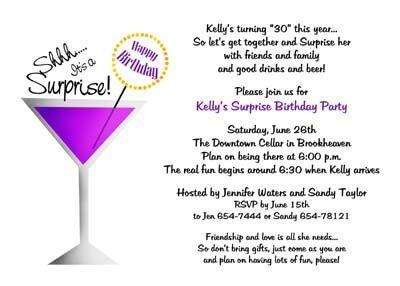 30th Birthday Party Invitations Ideas