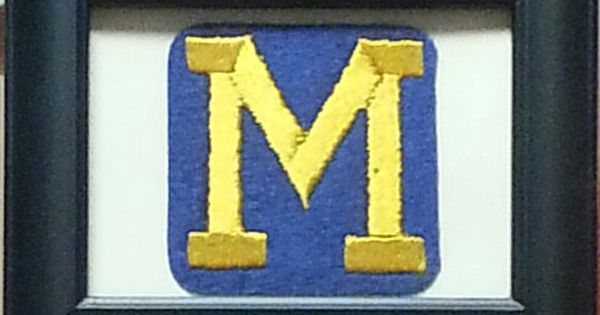 Michigan Wolverines Framed Vintage Embroidered Patch