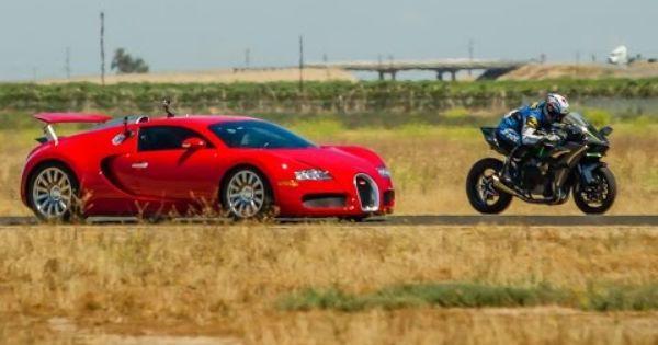 Kawasaki H2r Vs Veyron 12c And 1 350 Hp Gt R Autofluence With