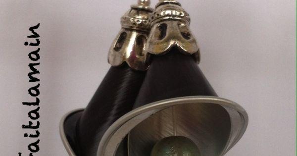 diy nespresso comment faire des boucles d 39 oreilles fleur. Black Bedroom Furniture Sets. Home Design Ideas