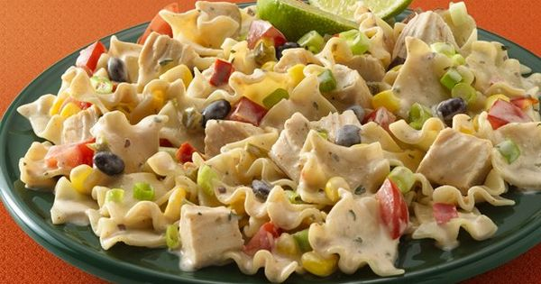 Chipotle Ranch Chicken Pasta Salad