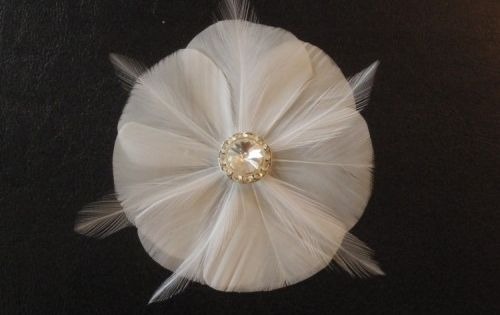 Delicate Feather Fascinator Hair Clip (via Offbeat Bride)