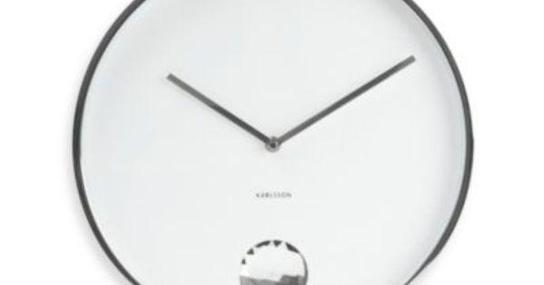 Present Time Karlsson 13 5 Inch Swinging Diamond Wall Clock Diamond Wall Clock Wall Clock
