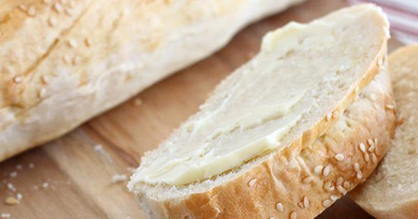 Easy Italian Bread ~ Ingredients: 1 pkg (2+1/4 tsp) active dry yeast,