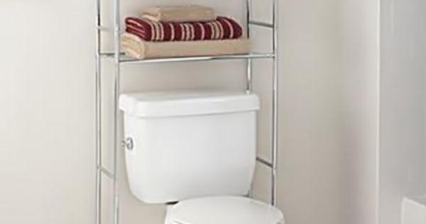 mainstays bathroom organizer space saver chrome finish up to 20 lbs per shel x3 toilet storage. Black Bedroom Furniture Sets. Home Design Ideas