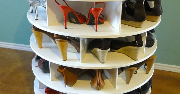 DIY Lazy Shoezen Shoe Rack- Lazy Susan Shoe Rack Step-by-step Tutorial