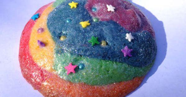 Unicorn Cookies ... made of sugar cookies, rainbow dragees, rainbow star sprinkles,