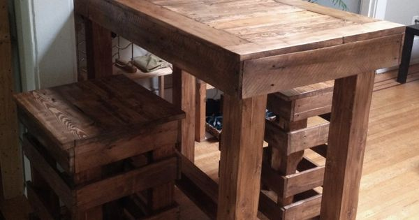 theke und hocker aus holz zum selberbauen basteln selber. Black Bedroom Furniture Sets. Home Design Ideas