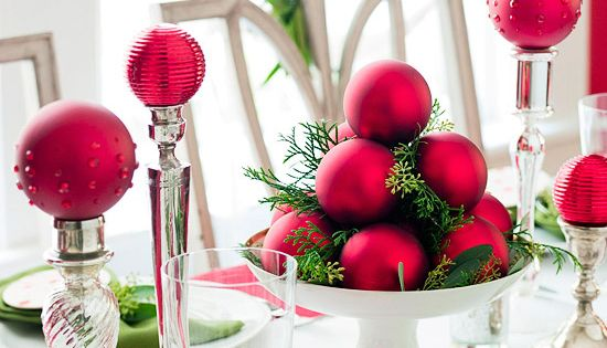 Christmas Centerpieces - Click image to find more Holidays & Events Pinterest