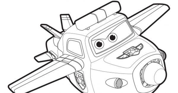 coloriage paul en mode avion