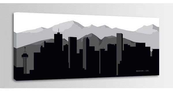American Furniture Warehouse Virtual Store Denver Graphic Skyline 60x20 Home Decor