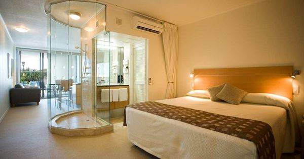 Bedrooms ideas master bedroom with open bathroom with for Spa like bedroom designs