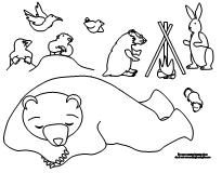 Coloring Pages For The Bear Snores On With Images Hibernation