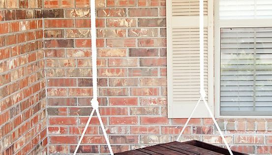 Wood pallet swing for our back porch.Love this for the front porch!