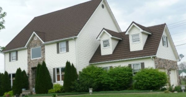 Residential Category Tile Image Decra Tile Shadowood Kentucky Metal Roof Houses House Exterior Roofing Options