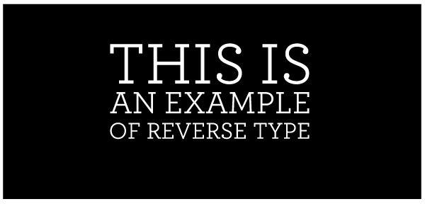Reverse Type File Prep Techniques Boxcar Press Reverse Text Graphic Design Class Black Background Design