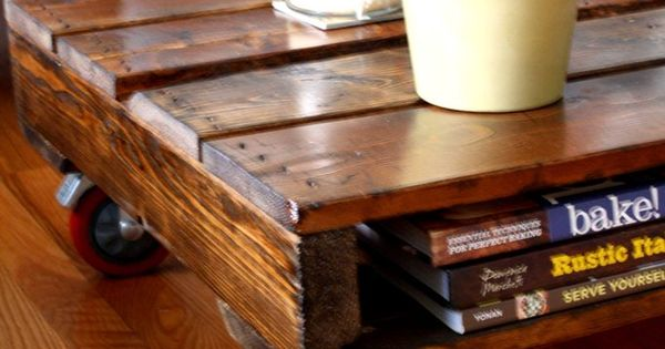 I Think I Would Do Something Different For The Legs Diy Make Your Own Pallet Coffee Table