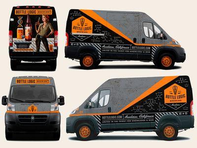 Bottle Logic Vehicle Graphics | Van wrap, Vehicle signage ...