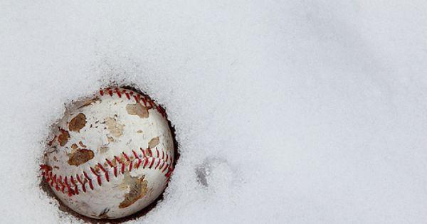 #Baseball Snow Winter