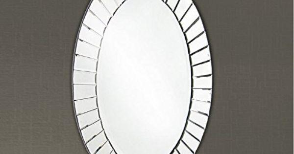 Espejos modernos cristal oval cristal ibergada casa for Espejos modernos cristal