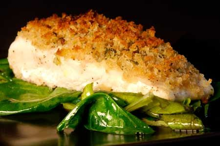 Baked fish, Bread crumbs and Dried basil on Pinterest