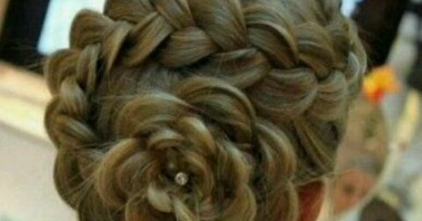 braided flower hair. Flower girl hair!