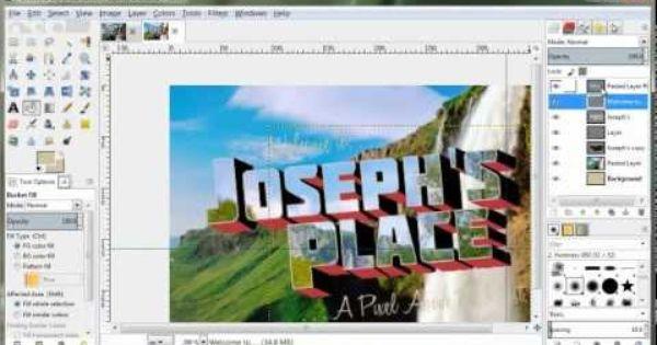How To Create A Retro Postcard Design In Gimp 2 8 Youtube Postcard Design Gimp Tutorial Gimp