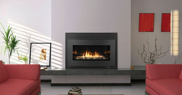 Gas Fireplace Insert 1 Sided Remote Controlled Cosmo Heat