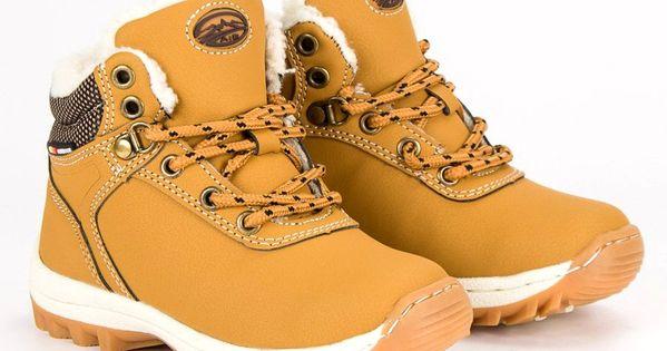 Polbuty I Trzewiki Dzieciece Dla Dzieci Axboxing Ax Boxing Zolte Zimowe Obuwie Na Suwak Timberland Boots Boots Shoes
