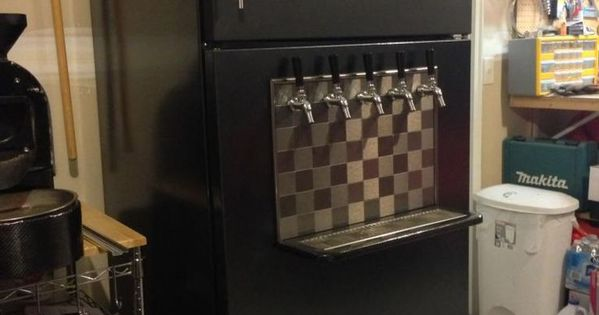 Man Cave Kegerator : Kegerator with chalkboard home brewing pinterest man