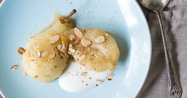 Healthy Fall Dessert Option: Roasted Pears with Five-Spice and Greek Yogurt