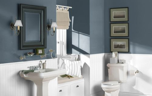 Paint Color Sea Serpent Sherwin Williams Master Bath And