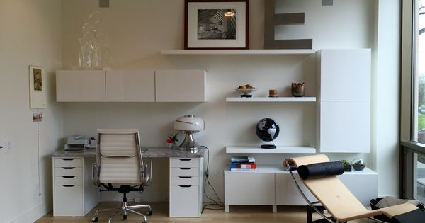 Ikea besta burs home office with alex drawers lack for Besta wandmontage