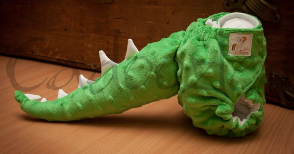 Green Dinosaur Cloth Diaper With Detachable Tail Www