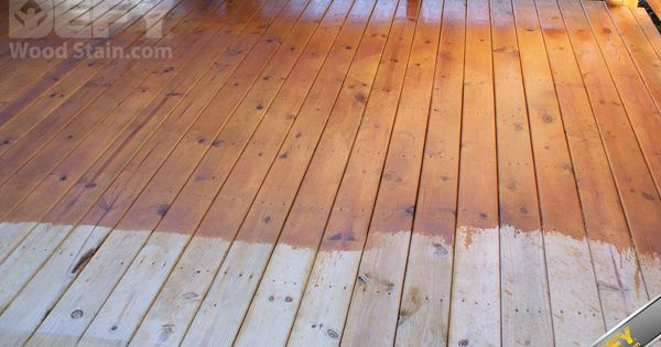 Pressure Treated Deck Partially Stained With Defy Extreme