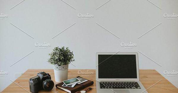 Side view of an Entrepreneur's Desk