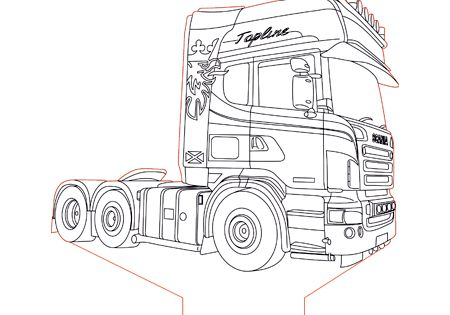 Scania Truck 2 3d Illusion Lamp Plan Vector File For Laser And Cnc 3bee Studio 3d Illusions 3d Illusion Lamp Illusions