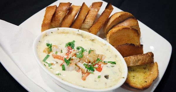 artichoke shrimp  crab dip artichoke shrimp crab oregano parmesan and pepperjack cheese