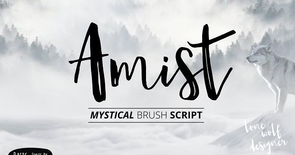 Amist Mystical Script Fonts – Fantasy and modern font , suitable for many project , quotes, logo and more
