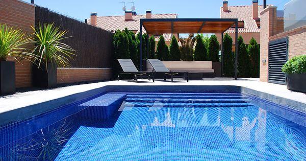 Jard n minimalista piscina cordyline australis dracena for Piscinas desmontables altas